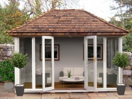Henley Summerhouse painted in Old English Cream