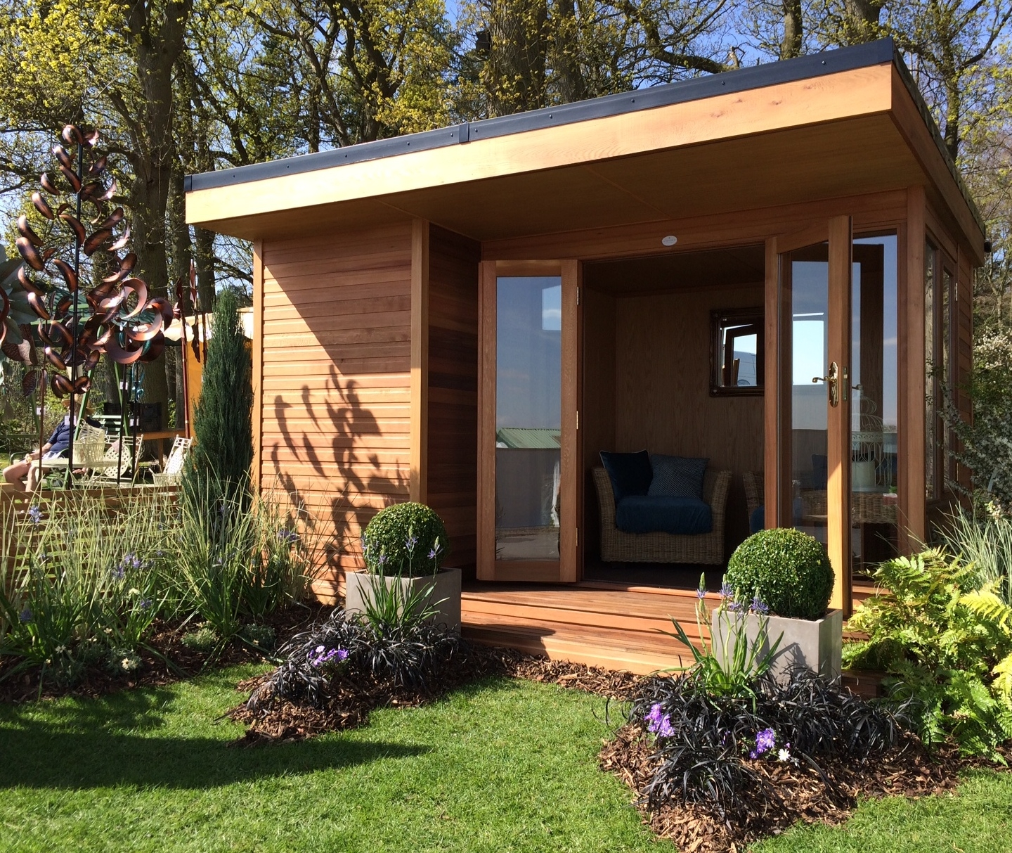 The oxford is a contemporary summerhouse in 5 sizes for Garden designs with summer houses