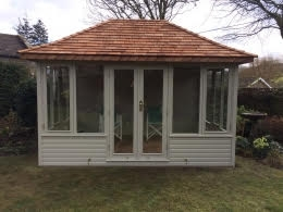 Henley Summerhouse painted in Pebble Green