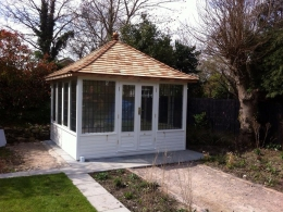 Large Richmond Summerhouse painted in Orchid White
